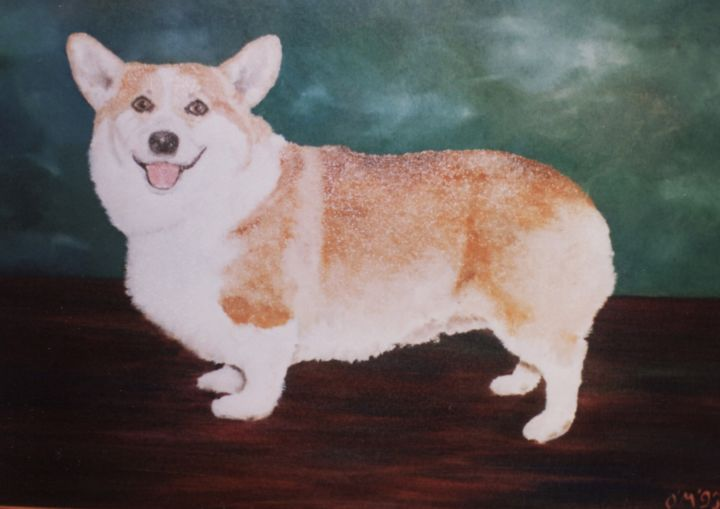 Micheal O Muirthile - Portrait of Award-winning Corgi (Detail)